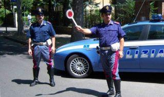 Posto di blocco polizia